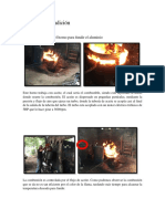 Informe de Fundición Practica