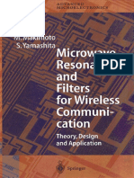 M.makimoto S.yamashita Microwave Resonators and Filters for