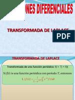 ECUACIONES DIFERENCIALES TRANSFORMADA DE LAPLACE