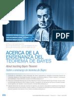 Acerca de la enseñanza del teorema de Bayes