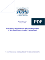 Experience and Challenges RBS for Pension Funds (Int Org Pension Funds Superv) PAPAER 2007