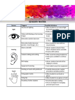 sensory matrix pf