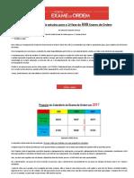 Cronograma de Estudos 1 Fase XXII Exame de Ordem
