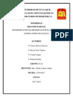 Lab Bioquimica Informe 2 Metodo de Lowry