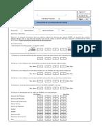 Formato Evaluación Satisfacción Del Cliente Rev1