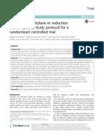 Antibiotic Prophylaxis in Reduction