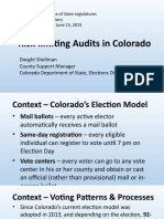 Risk-limiting Audits in Colorado