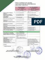 Calendario Académico Programa de Actualización de Conocimientos