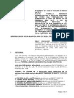 Roque Formula Denuncia Administrativa y Solicita La Declaracion de Nulidad de Oficio