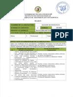 Syllabus de Analisis Matematico I