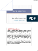 Tema 9 - Algoritmos