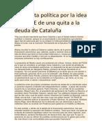 Tormenta Política Por La Idea Del PSOE de Una Quita a La Deuda de Cataluña