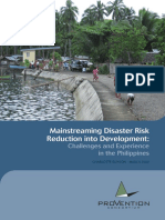 Mainstreaming Disaster Risk Reduction into Development (Provention Consortium, 2009)