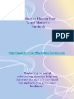10 Steps to Finding Your Target Market in Facebook