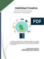La Contabilidad Creativa Su Efecto en Las Finanzas Corporativas y El Papel de La Etica Profesional