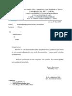 Surat Pengadaan Barang Laboratorium