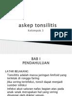 Askep Tonsilitis