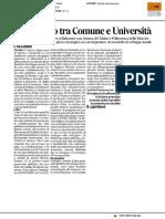 Patto tra Comune e Università - Il Corriere Adriatico del 18 luglio 2017