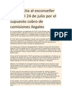 El TSJC Cita Al Exconseller Gordó El 24 de Julio Por El Supuesto Cobro de Comisiones Ilegales
