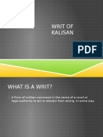 Writ of Kalisan