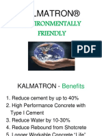 Kalmatron -- Environmentally Friendly, Green Concrete