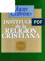Calvino Juan - Institucion de La Religion Cristiana