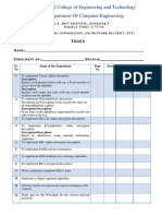 03B List of Experiments 2170709 INS Lab Manual 2017-18