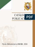 Catalogo Fondo Editorial UNMSM