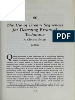 Greenson. the Use of Dream Sequences for Detecting Errors of Technique