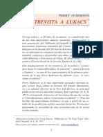 Lukacs Entrevistado Por Perry Anderson