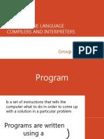 Machine Language, Compilers and Interpreters