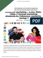 Influencer Marketing - Online Marketing Újratöltve