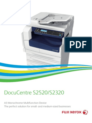 Fuji Xerox DocuCentre S2520/S2320 | Image Scanner | Fax