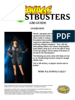 Ghostbusters GM Guide