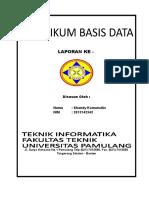 Tugas Praktikum Basis Data