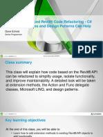 Presentation 11192 Presentation SD11192 Advanced Revit Code Refactoring