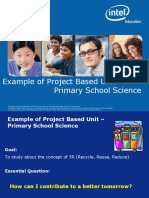 Example of Project Based Learning - Primary School Science