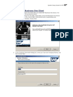 Installing SAP Business One Client