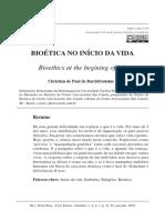 Bioetica No Inicio Da Vida