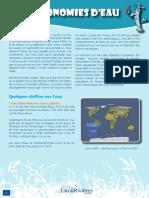 Economies d'eau - Fiche péda Eau & Rivières de Bretagne