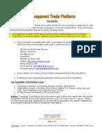 Trade Platform Procedure