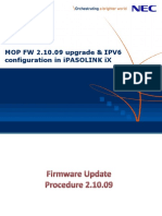 MOP for FW 2.10.09 Upgradation & IPv6 Configuratio_rev01