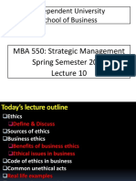 MBA 550 SM Sec 2 Lecture 10 IUB Final