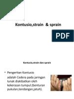 Kontusio,Strain & Sprain