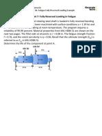 Worksheet 7 Fully Reversed Loading in Fatigue
