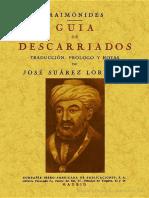 Guía de los descarriados - Maimónides.pdf