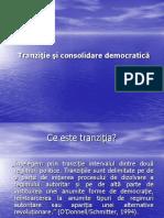 Tranzitie si consolidare democratică (ppt)