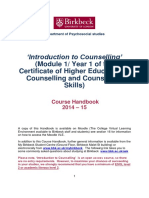 Introduction to Counselling Course Handbook 2014-15