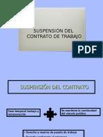 Suspensión del contrato 2017