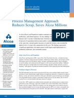 Process Management Approach Reduces Scrap